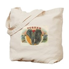 Tusker Elephant Vintage Cigar Label Tote Bag