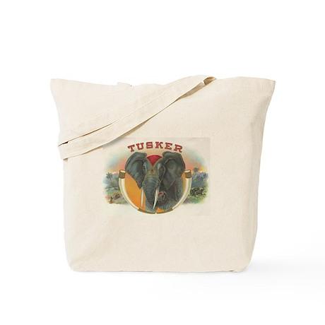Tusker Elephant Vintage Cigar Label Tote Bag
