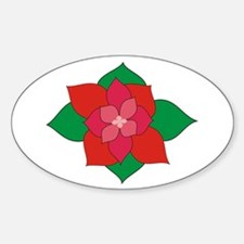 Christmas Flower Oval Decal