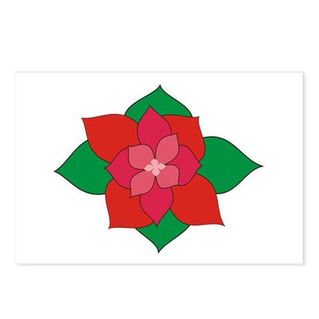 Christmas Flower Postcards (Package of 8)