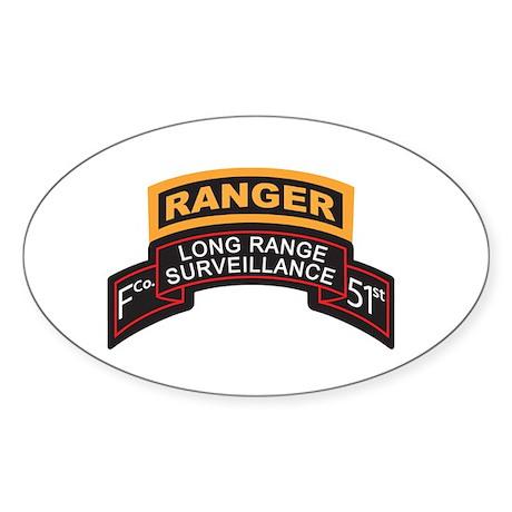 F Co 51st INF LRS Scrolls - A Oval Sticker