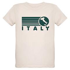Retro Italy Green Organic Kids T-Shirt