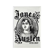 Jane Austen Rectangle Magnet