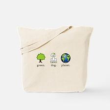 Green Dog Planet Tote Bag