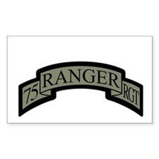75th Ranger Regt Scroll ACU Rectangle Decal