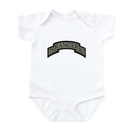 75th Ranger Regt Scroll ACU Infant Bodysuit