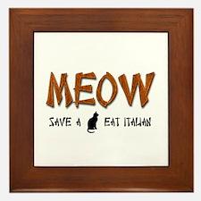 Meow Framed Tile