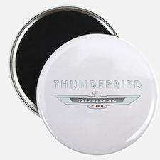 Ford Thunderbird Logo w Type Chrome Magnet