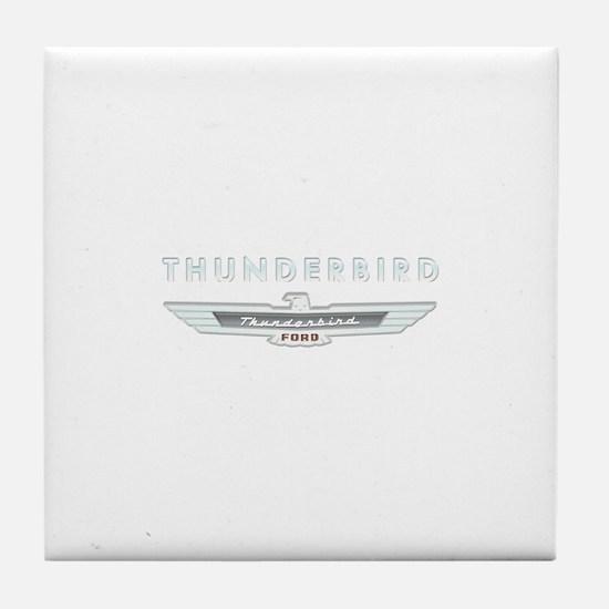 Ford Thunderbird Logo w Type Chrome Tile Coaster