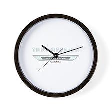 Ford Thunderbird Logo w Type Chrome Wall Clock