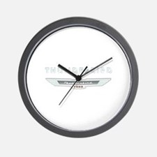 Ford Thunderbird Logo w Type Chrome Wall Clock