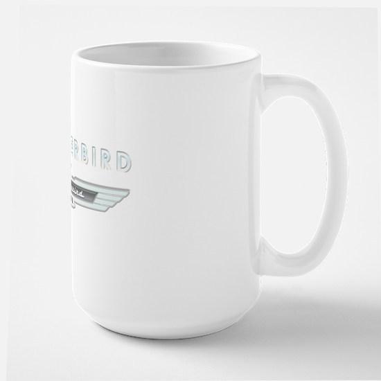 Ford Thunderbird Logo w Type Chrome Large Mug