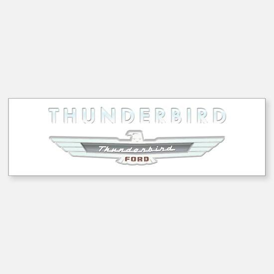 Ford Thunderbird Logo w Type Chrome Bumper Bumper Sticker