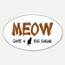 Meow Oval Bumper Stickers