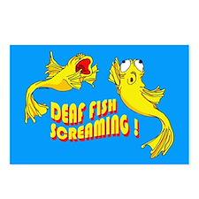 Deaf fish screaming! Postcards (Package of 8)