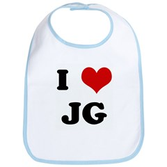 I Love JG Bib