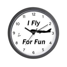 I Fly for Fun - Wall Clock
