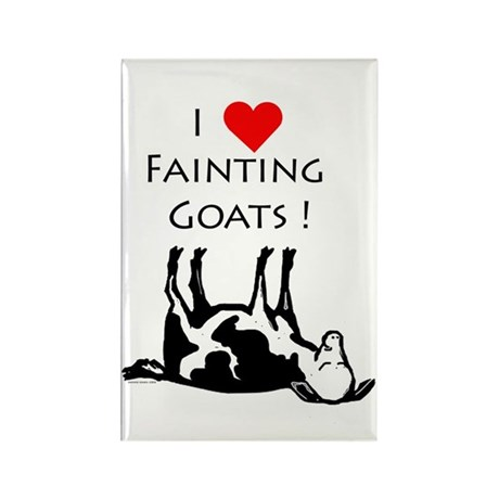 I love fainting goats Rectangle Magnet