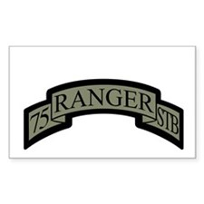 75th Ranger STB Scroll ACU Rectangle Decal