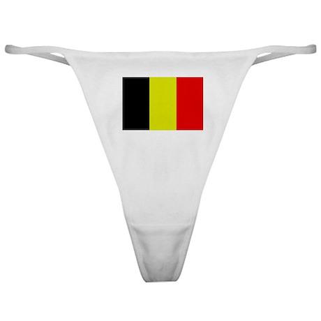 Flag of Belgium 4 Classic Thong