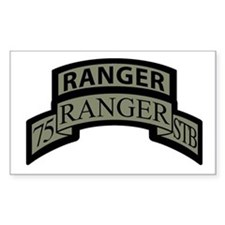 75th Ranger STB Scroll/tab Rectangle Decal