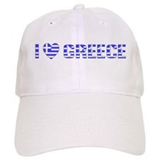 I (Heart) Love Greece Baseball Cap