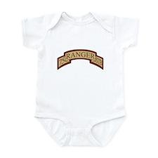75th Ranger STB Scroll Desert Infant Bodysuit