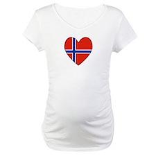 Norwegian Flag Heart Valentin Shirt