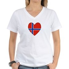 Norwegian Flag Heart Valentin Shirt