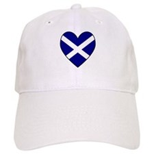 Scottish (Andrew) Flag Heart Baseball Baseball Cap