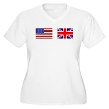 USA / UK Flags T-Shirt