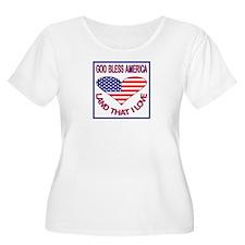 God Bless America & Flag T-Shirt