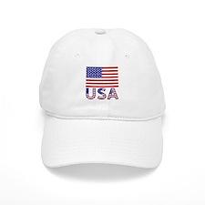 USA Flag & Letters Baseball Cap