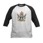 Zimbabwe Coat Of Arms Kids Baseball Jersey