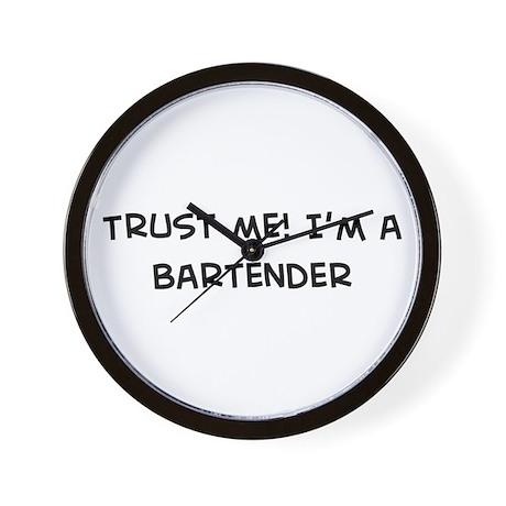 Trust Me: Bartender Wall Clock