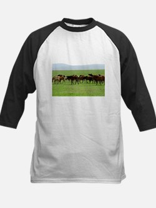 Horses on Grassland Baseball Jersey