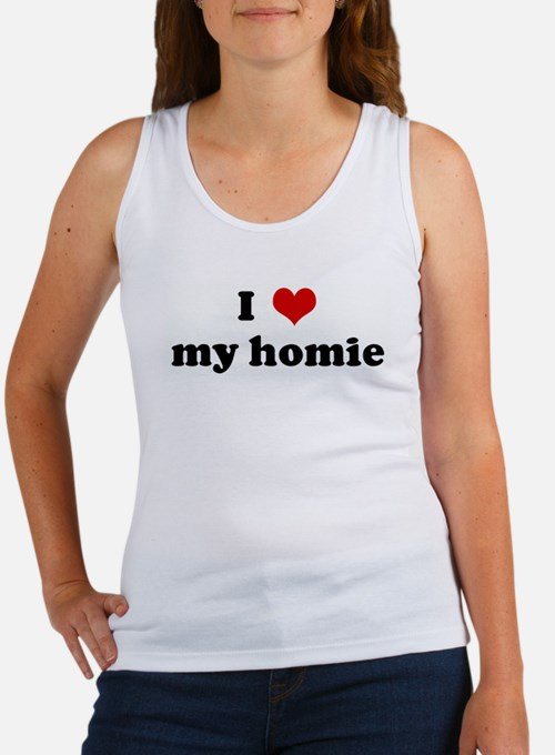 I Love my homie Women's Tank Top