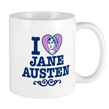 I Love Jane Austen Small Mug