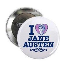"I Love Jane Austen 2.25"" Button"