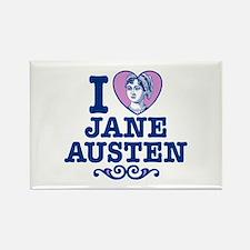 I Love Jane Austen Rectangle Magnet