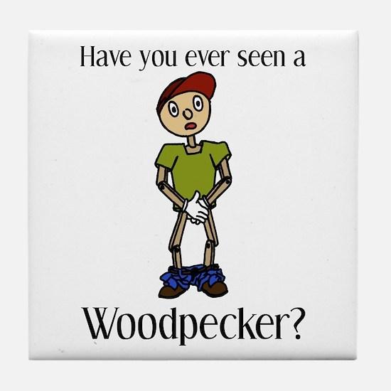 Woodpecker Tile Coaster