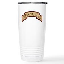 1st Ranger Bn Scroll Desert Travel Mug
