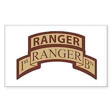 1st Ranger Bn Scroll/ Tab Des Rectangle Decal