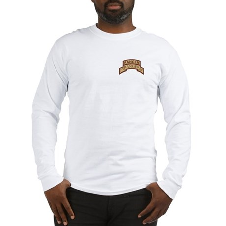 1st Ranger Bn Scroll/ Tab Des Long Sleeve T-Shirt