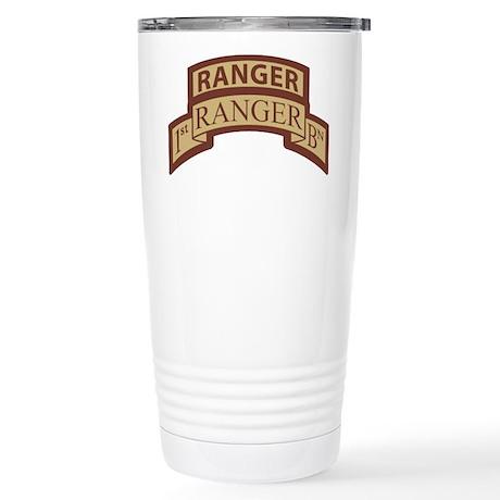 1st Ranger Bn Scroll/ Tab Des Stainless Steel Trav