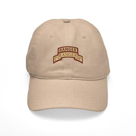 1st Ranger Bn Scroll/ Tab Des Cap