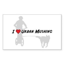 Love Urban Mushing Rectangle Decal