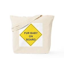 Cute Humorous baby board Tote Bag