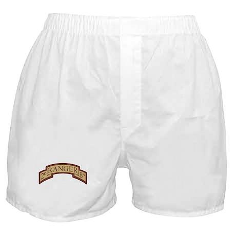 2nd Ranger Bn Scroll Desert Boxer Shorts