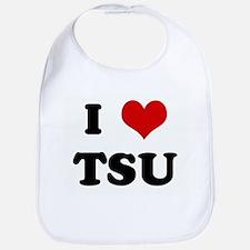 I Love TSU Bib